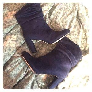 Shoedazzle Deep Blue Booties
